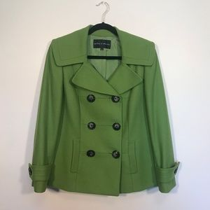 Antonio Melani Green Wool Pea Coat Size 8